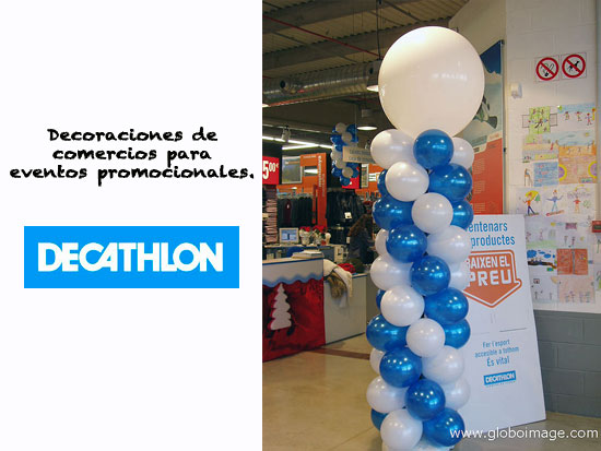 decoración con globos decathlon